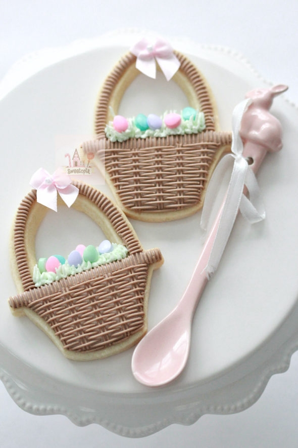 Easter Basket Decorated Cookies