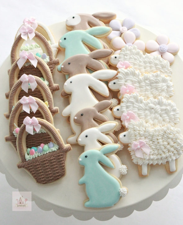 Easter Cookies Decorated with Royal Icing _ Recipes on Blog