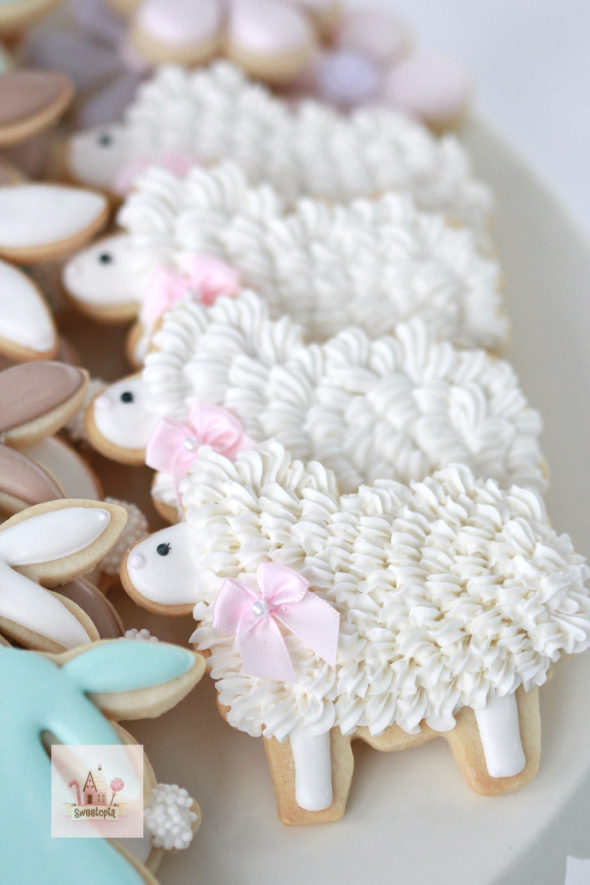 Lamb Decorated Cookies