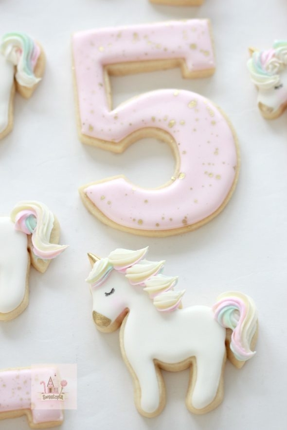 Birthday Party Unicorn Decorated Cookies