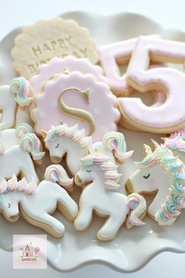 Birthday Unicorn Cookies