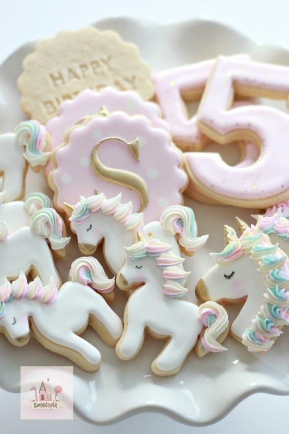 Birthday Unicorn Cookies