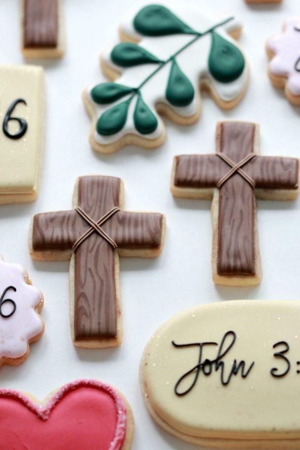Cross Decorated Cookies