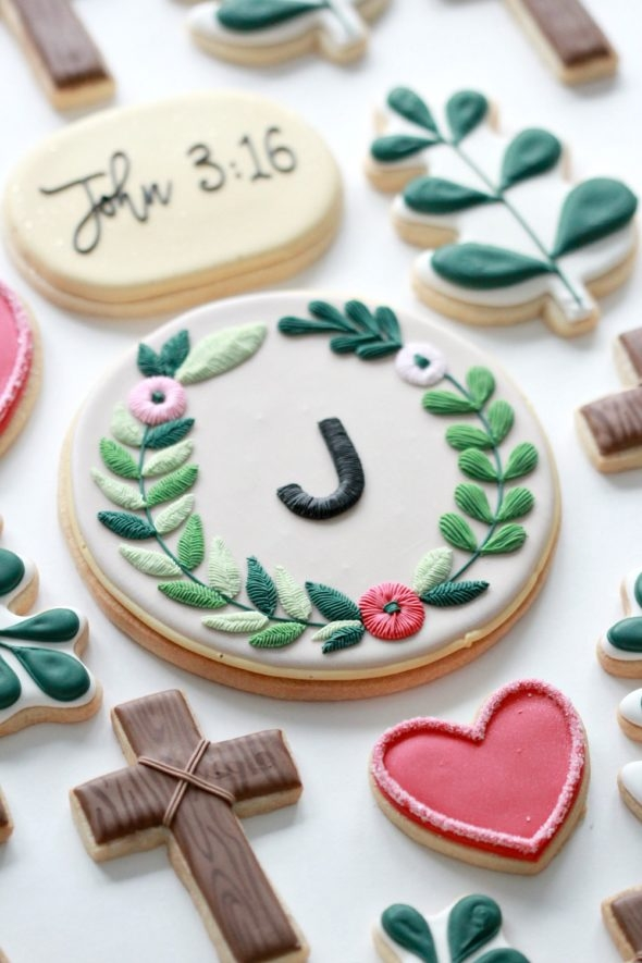 Easter Cookies Decorated with Royal Icing