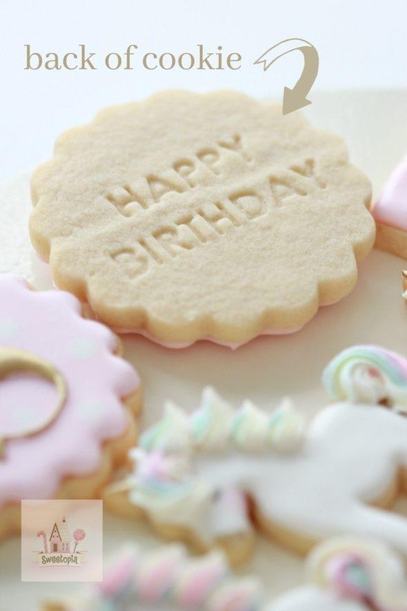 Embossed Birthday Decorate Cookies