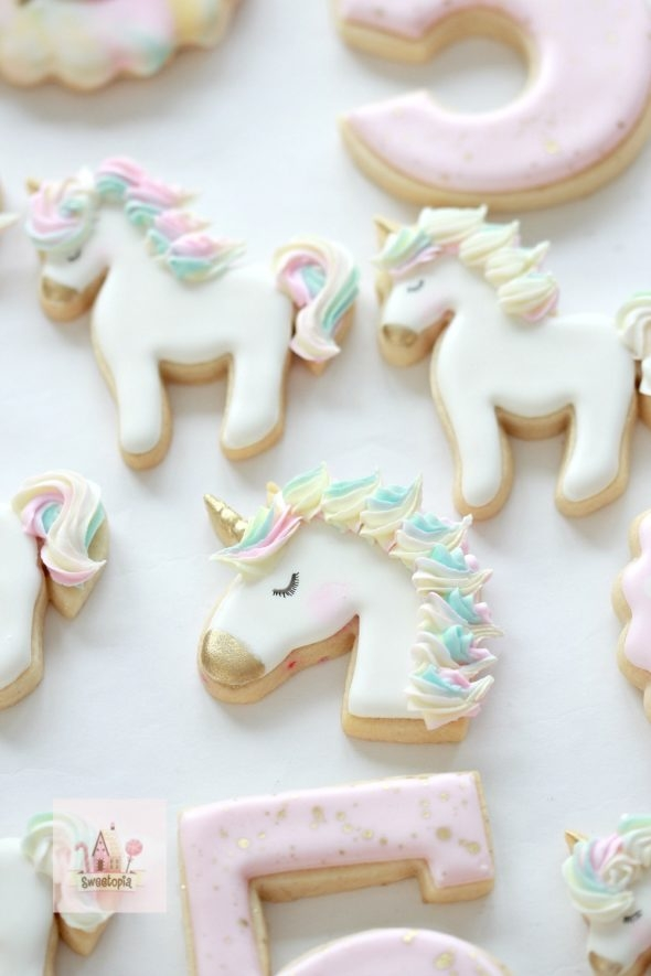 How to Decorate Unicorn Cookies with Royal Icing _ Video Tutorial