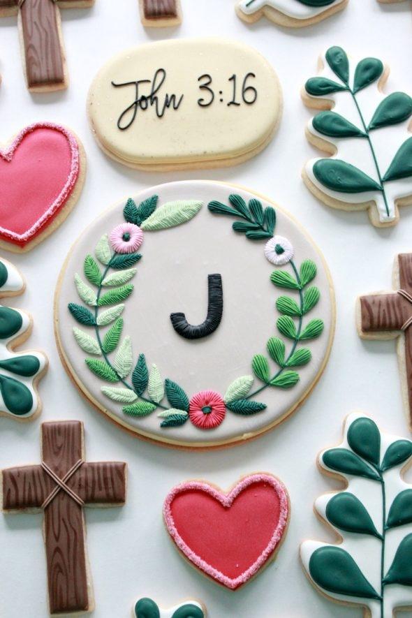 John 3 16 Decorated Cookies