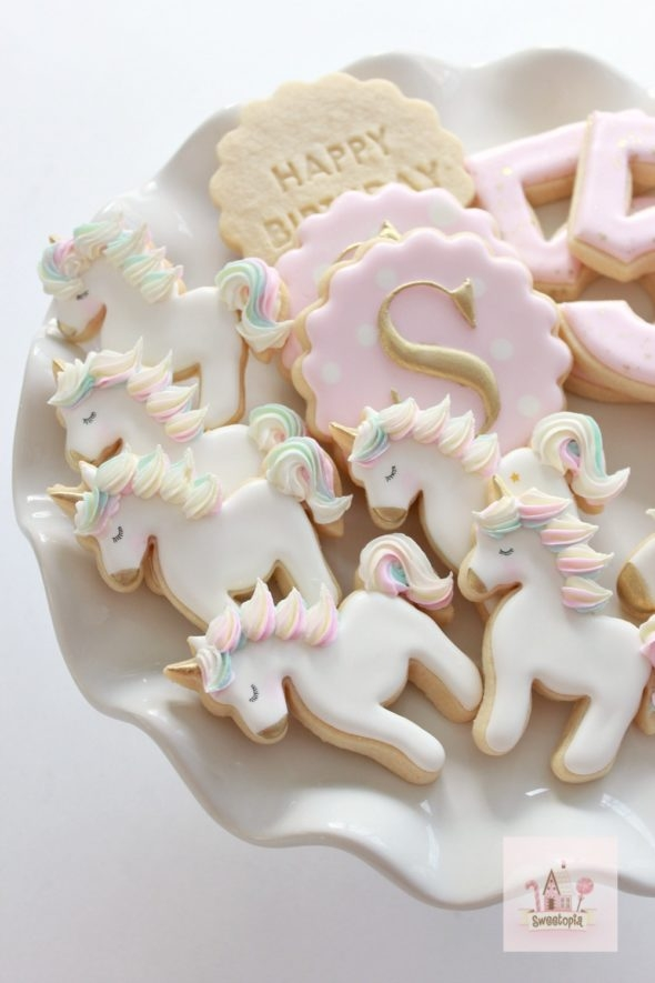 Unicorn Birthday Cookies