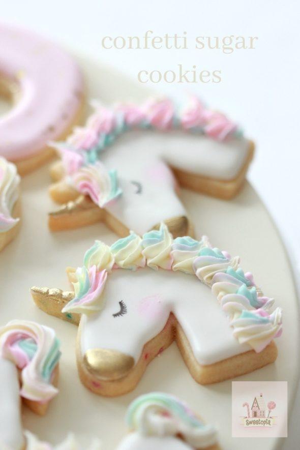 Unicorn Confetti Cookies