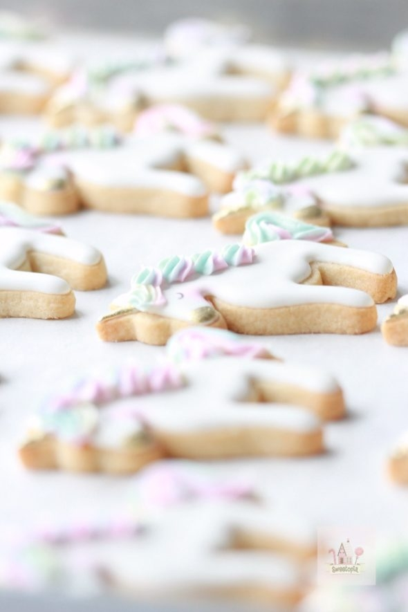 simple unicorn cookie tutorial