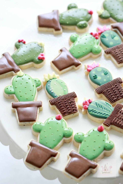 Cactus Decorated Cookies