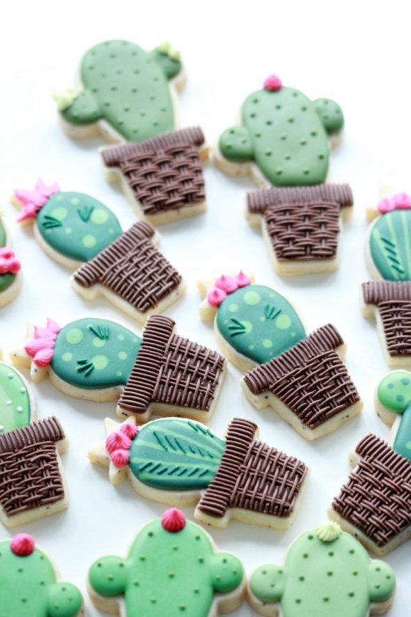 Video Tutorial How to Decorate Cactus Cookies Sweetopia