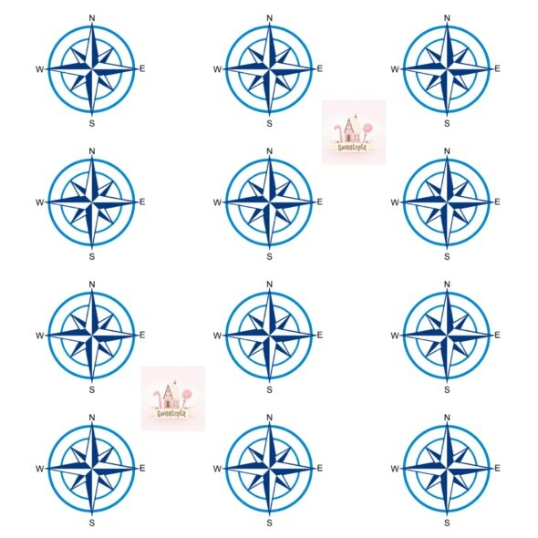 Compass Rose Template 1 Sweetopia