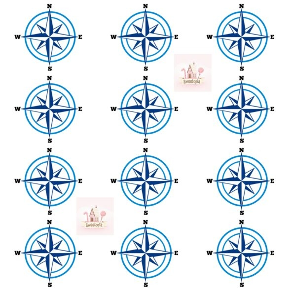 Compass Rose Template 2 Sweetopia