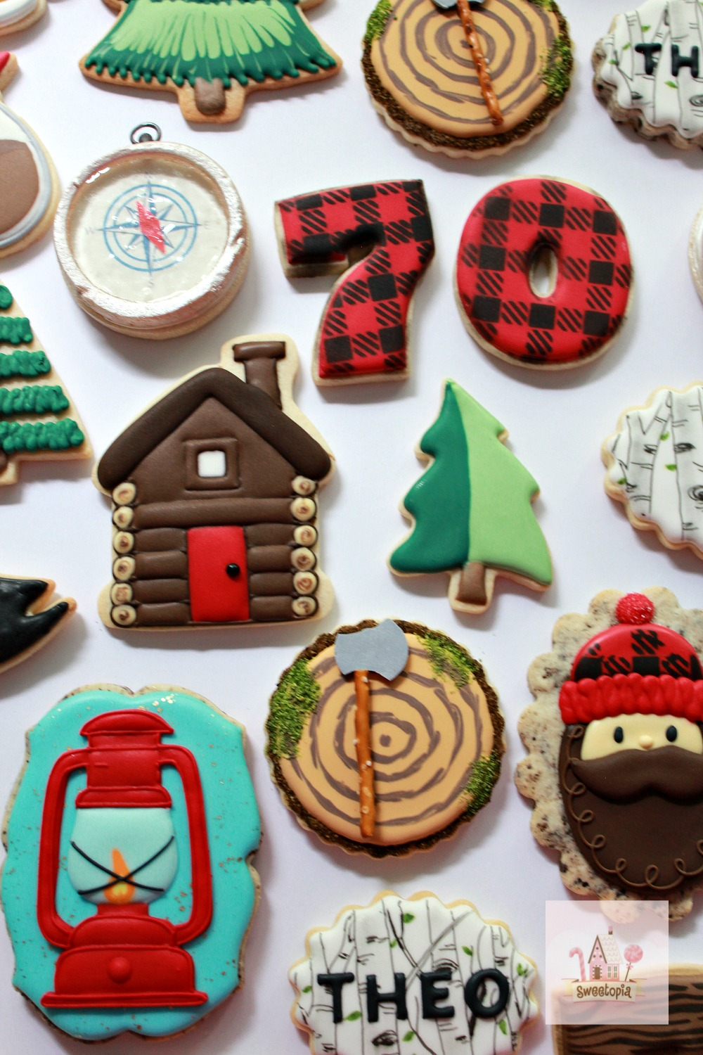 Decorating Camping Cookies with Royal Icing Video How To Sweetopia