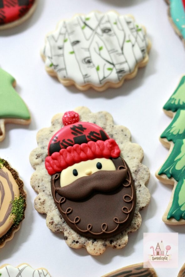 How to Decorate Lumberjack Cookies with Royal Icing Video