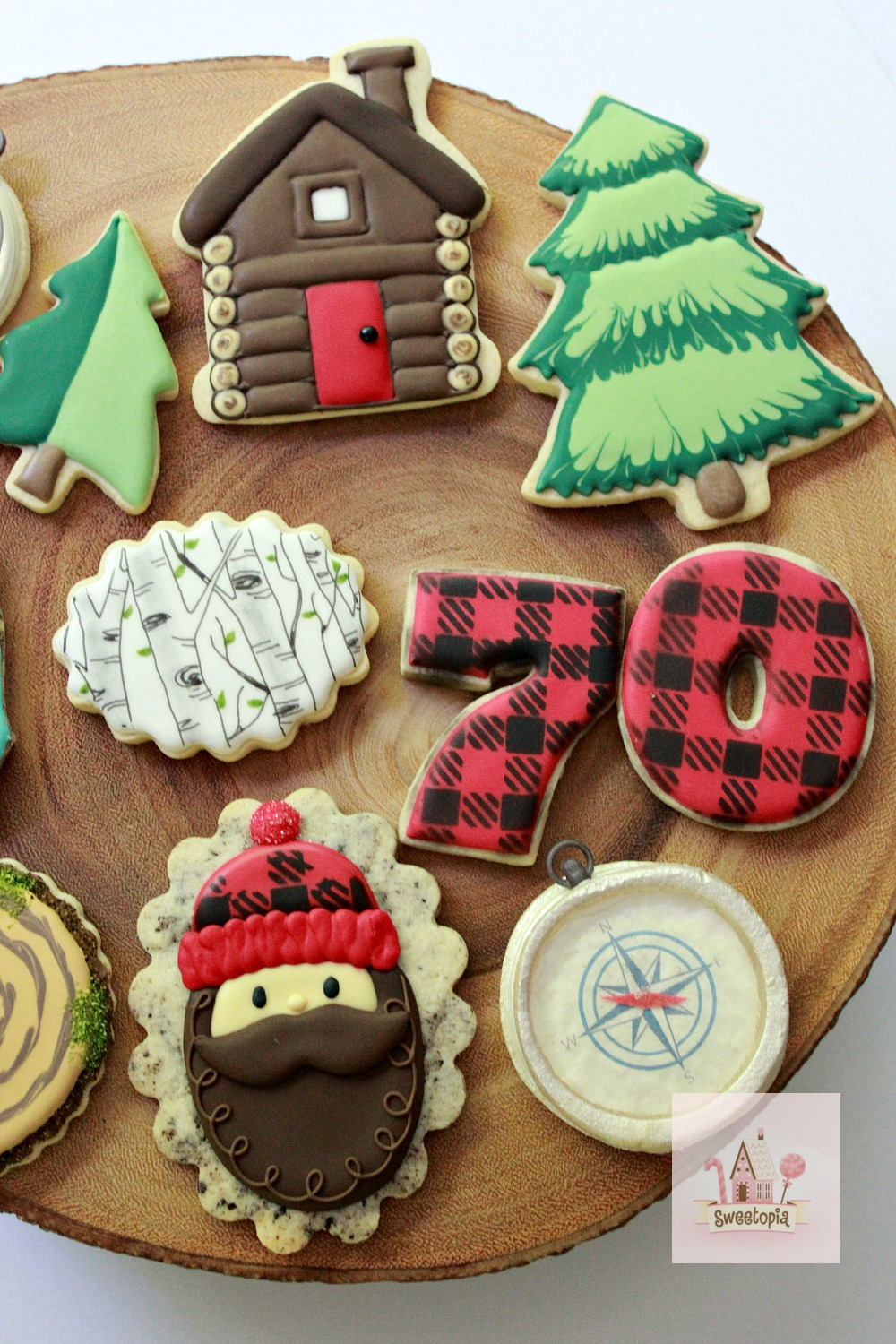 How to Decorate Lumberjack Cookies with Royal Icing Video Tutorial Sweetopia