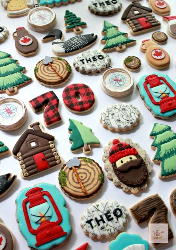 Lumberjack Decorated Cookies