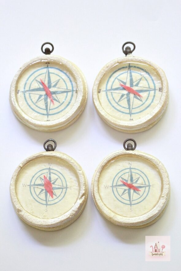 Video Tutorial How to Make Compass Decorated Cookies Sweetopia