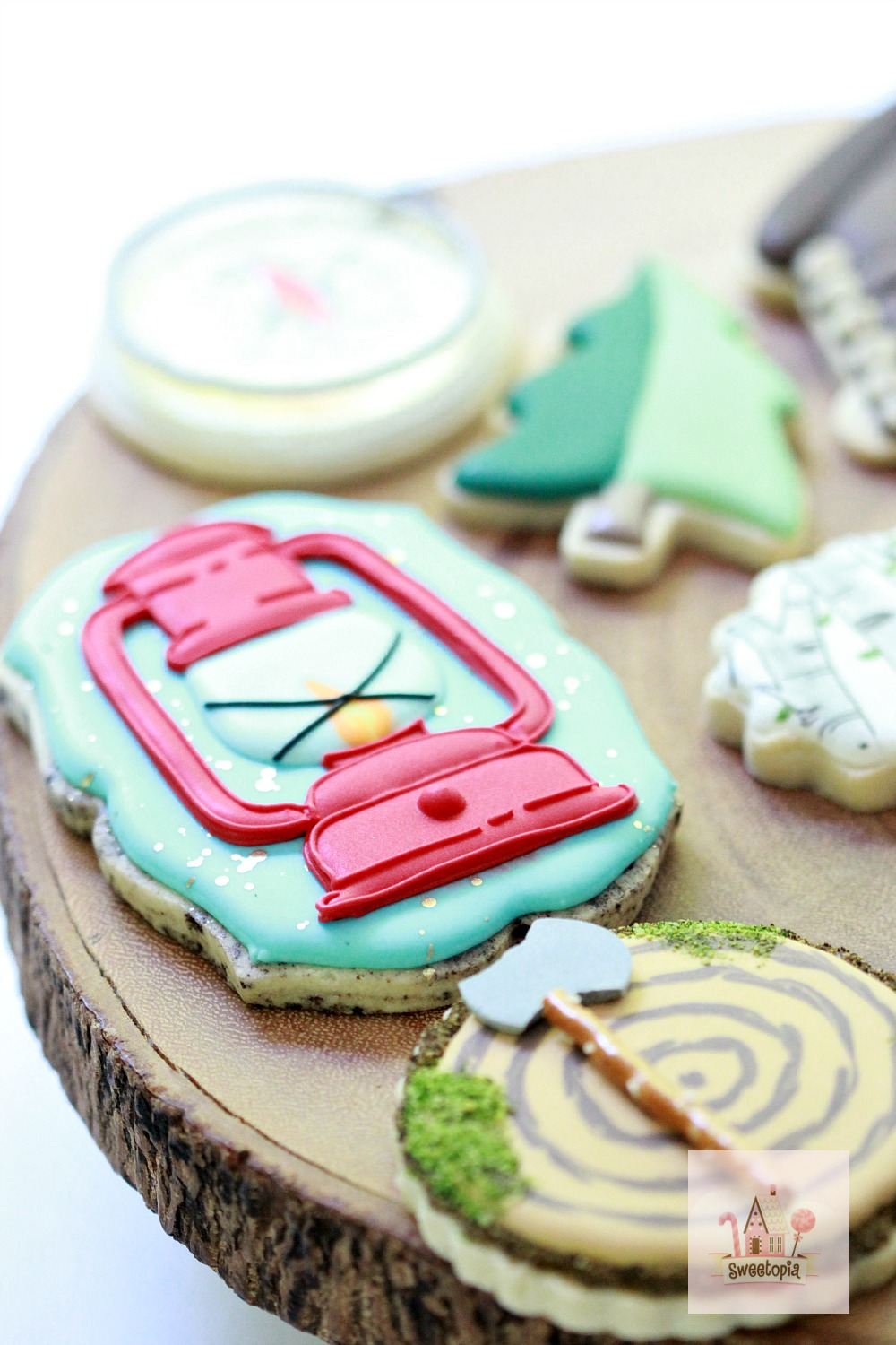 Video on How to Decorate Camping Cookies with Royal Icing Sweetopia