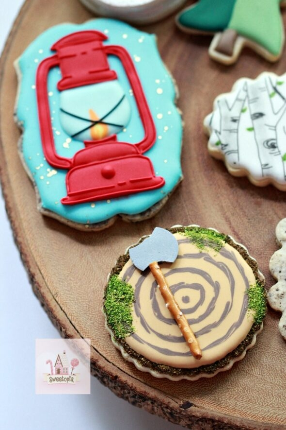 Wood Slice Decorated Cookie Video How To