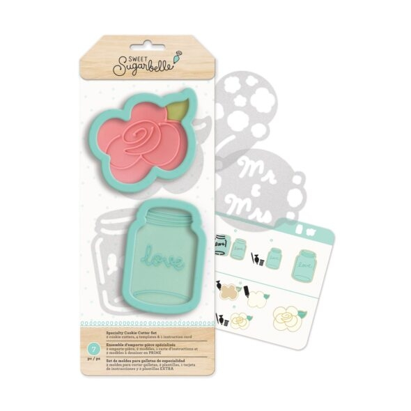 sweet sugarbelle country rose specialty cookie cutter set