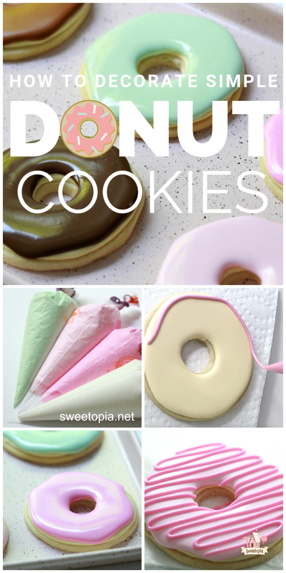 How to Decorate Simple Donut Cookies