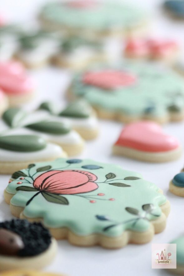 Rifle Paper Co Botanical Flower Cookies