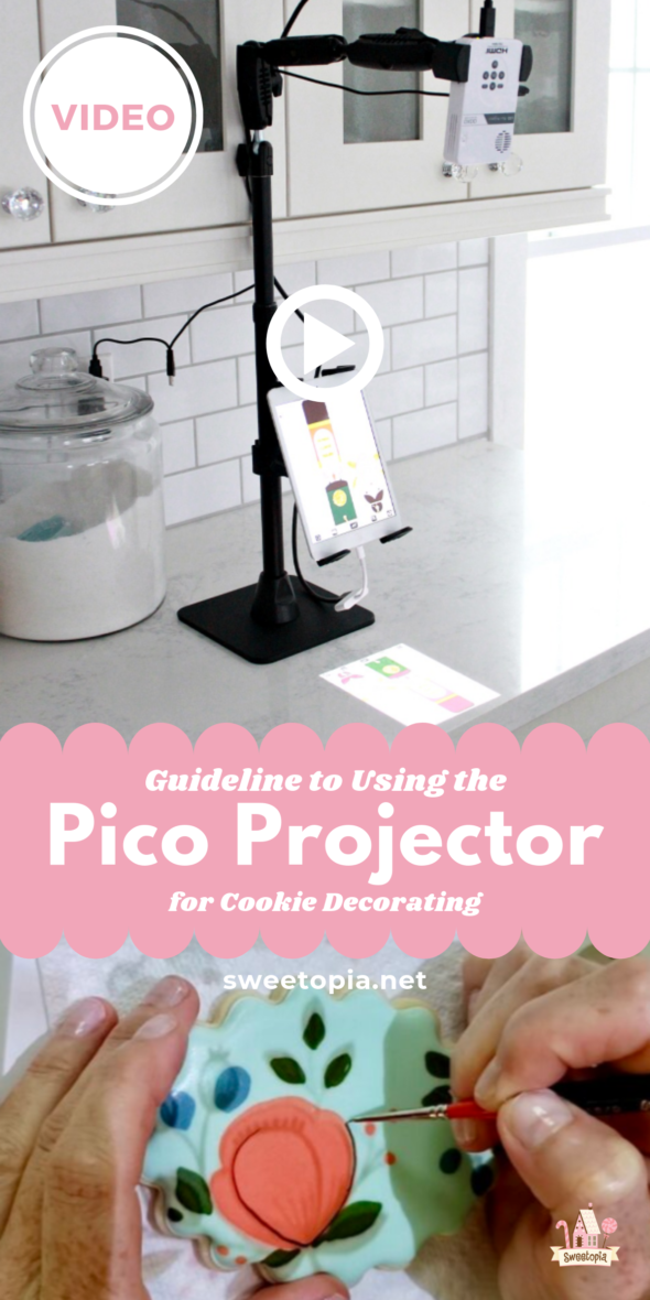Using the Pico Projector for Cookie Decorating